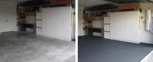 MrFix.Repair Garage Carpeting Installation Before and After